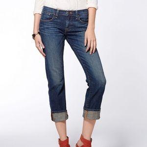 Lucky Sienna Tomboy Crop Dark Wazh Jeans Sz 00